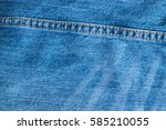 blue jeans and stitches texture.... | Shutterstock . vector #585210055