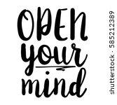 open your mind inspiration... | Shutterstock .eps vector #585212389