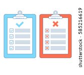 rules guide on clipboards.... | Shutterstock .eps vector #585216619