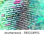big data storage and cloud... | Shutterstock . vector #585218951