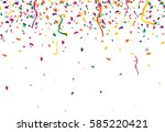 confetti abstract background... | Shutterstock .eps vector #585220421