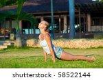 beautiful young woman doing... | Shutterstock . vector #58522144