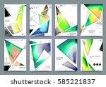 presentation template  brochure ... | Shutterstock .eps vector #585221837