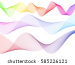 wave of the many colored lines. ... | Shutterstock .eps vector #585226121