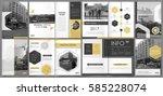 abstract binder art. white a4... | Shutterstock .eps vector #585228074