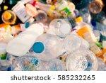 plastic bottles in landfills... | Shutterstock . vector #585232265