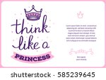 vector card template with pink... | Shutterstock .eps vector #585239645