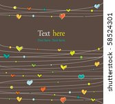 background with stylish doodle... | Shutterstock .eps vector #58524301