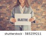 objective concept | Shutterstock . vector #585259211