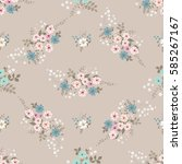 simple cute pattern in small... | Shutterstock .eps vector #585267167