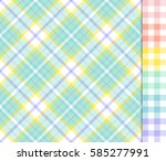 Easter Colors Tartan Plaid And...