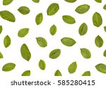 green leaves pattern isolated... | Shutterstock . vector #585280415