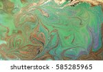 green and gold liquid texture ... | Shutterstock . vector #585285965