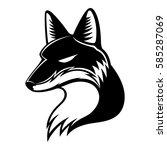 fox sign. | Shutterstock .eps vector #585287069