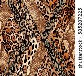 Animal Leo   Snake Mix Print  ...