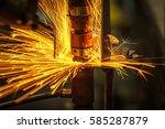 motion welding robots in a car... | Shutterstock . vector #585287879