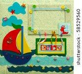 scrapbook photo album cover   Shutterstock . vector #58529560