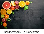 Fresh Citrus Fruits. Lemon...