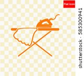 icon of iron and ironing board  ... | Shutterstock .eps vector #585300941