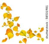 Autumn Leaves Falling Isolated...
