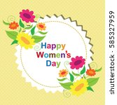 women's day card | Shutterstock .eps vector #585327959