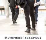 many business people walking on ... | Shutterstock . vector #585334031