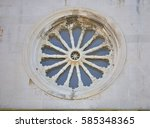 close up of church rosette from ... | Shutterstock . vector #585348365