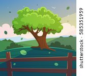 cartoon illustration of the... | Shutterstock .eps vector #585351959