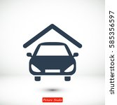 car icon  vector best flat icon ...   Shutterstock .eps vector #585356597
