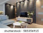 modern interior of a small... | Shutterstock . vector #585356915