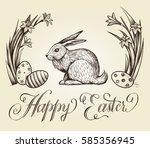 Easter Vintage Hand Drawn...