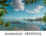 The lake is seven shades of blue in Bacalar.