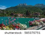 Pier With Flowers On The Lake...