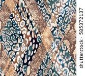 animal mix print   seamless... | Shutterstock . vector #585372137