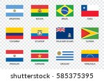an illustrated country flags of ... | Shutterstock .eps vector #585375395