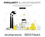 oil popularity modern layouts... | Shutterstock .eps vector #585376661