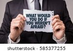 what would you do if you weren... | Shutterstock . vector #585377255