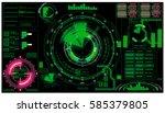 hud. gui. electronic indicator. ...