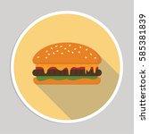 hamburger flat icon   Shutterstock .eps vector #585381839