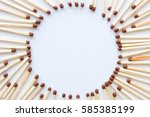 frame in the shape of a circle... | Shutterstock . vector #585385199