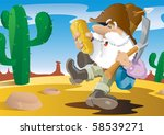 there's gold in them there...   Shutterstock .eps vector #58539271