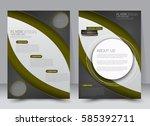 brochure template. business... | Shutterstock .eps vector #585392711