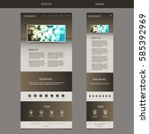 responsive one page website...