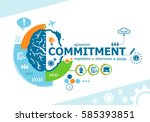 commitment related words and... | Shutterstock .eps vector #585393851