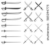 set of the swords isolated on... | Shutterstock .eps vector #585394775