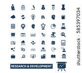 research development icons  | Shutterstock .eps vector #585397034