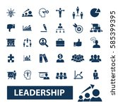 leadership icons  | Shutterstock .eps vector #585399395