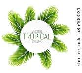 palms vector illustration.... | Shutterstock .eps vector #585400031