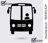 bus icon. schoolbus symbol.... | Shutterstock .eps vector #585401429