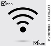 wifi symbol. vector wireless... | Shutterstock .eps vector #585401555